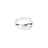 Dicksons, Dome with Cutout Cross, Women's Ring, Silver Plated, Sizes 6-9