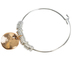 Bella Grace, Faith Hope Love Wire Bracelet, Iron & Zinc Alloy, Gold and Silver