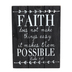 Luke 1:37, Faith Tabletop Plaque, MDF, Black and White, 8 x 6 inches