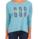 NOTW, GOD-fidence, Women's 3/4 Sleeve Hi-Low T-shirt, Jade, XS-2XL