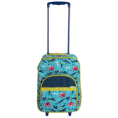 Stephen Joseph, Shark Pattern Rolling Luggage, 18 x 12 1/2 x 6 1/2 inches