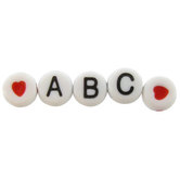 Alphabet Beads Value Pack, 6.5mm, Black and White, 400 count
