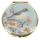 Punch Studio, Bird Compact Mirror, Metal, Gold, 2 3/4 Inches