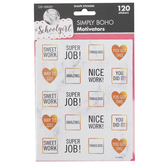 Schoolgirl Style, Simply Boho Motivational Stickers, Marble and Gold, 120 Pieces