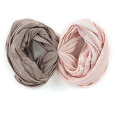 Fashion Tid Bits, Wide Elastic Multi Use Headbands, Tan & Pink, 1 Each of 2 Colors