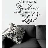 My Thoughtful Wall, As for Me and My House Vinyl Wall Decal, Black, 17 1/2 x 19 3/4 inches