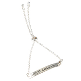 Bella Grace, Spirit Lead Me Bar Bracelet, Zinc Alloy, Silver-tone