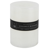 Winfield Home Decor, Coconut Blossoms Pillar Candle, White, Multiple Sizes Available