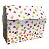 Teacher Created Resources, Confetti Treasure Chest, Cardboard, 9 1/2 x 8 x 8 1/2 Inches, 1 Piece