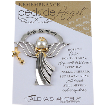 Alexa's Angels, Remembrance Bedside Angel, Zinc, Silver, 2 1/2 inches