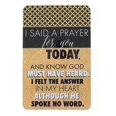 Dicksons, I Said A Prayer For You Pocket Card, Black and Gold, 2 1/2 x 4 inches