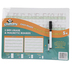 Channie's, Visual Dry-Erase Magnetic Boards, Alphabet & Numbers Practice, 8 1/2 x 11 Inches, Pack of 2