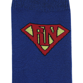 Nurseology, Super Nurse Socks, Blue with Red Details, One Size Fits Most Adults