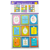 North Star Teacher, Bible Verses A to Z Bulletin Board Set, Multi-colored, 17 x 22 Inches, 3 Pieces