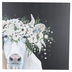 Flower Crown Cow Canvas Wall Decor, Black and White, 24 x 24 x 1 1/2 inches
