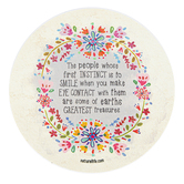 Natural Life, Round Greatest Treasures Sticker, Vinyl, 3 1/2 inches