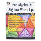Carson-Dellosa, Pre-Algebra and Algebra Warm-Ups Resource Book, Reproducible, 96 Pages, Grades 5-12