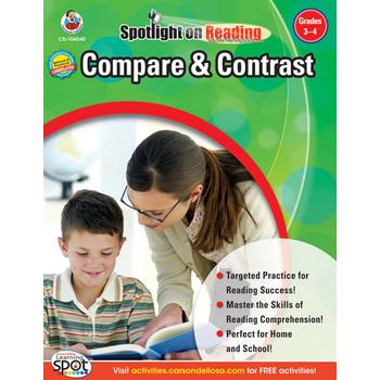 Carson-Dellosa, Compare and Contrast Resource Book, Spotlight on Reading, Paperback, Grades 3-4