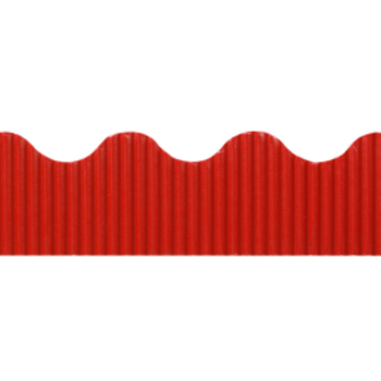 The Fine Touch, Corrugated Border Trim, 50 Feet, Red