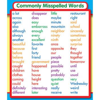 Common Misspelled Word: Study Buddies