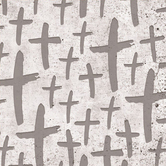 Renewing Faith, Faith & Fellowship Grey Crosses Paper Napkins, Large, 6 1/2 Inches, Pack of 50