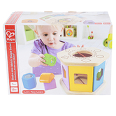 Hape, Shake & Match Shape Sorter, 6 3/4 x 4 3/4 inches, 7 Pieces