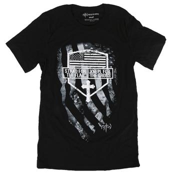 NOTW, Stand for the Flag Kneel for the Cross, Men's Short Sleeve T-Shirt, Black, S-2XL