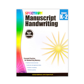 Spectrum Manuscript Handwriting Workbook, Paperback, 96 Pages, Grades K-2