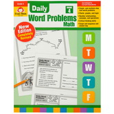 Evan-Moor, Daily Word Problems Teacher's Edition, Paperback, 128 Pages, Grade 4