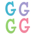 Glitter Foam Alphabet Letter Upper Case - G, 4 x 5.5 x .50 Inches, 1 Each, Assorted Colors