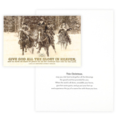 DaySpring, Simplified Cowboy, Luke 2:14 Give God All The Glory Boxed Christmas Cards, 7 1/2 x 5 inches, 18 cards
