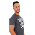 Kerusso, 2 Corinthians 5:7 Walk By Faith, Men's Short Sleeve T-shirt, Black Heather, Small