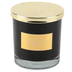 Winfield Home Decor, Velvet Tonka Bean Jar Candle, Black, 3 3/4 x 3 3/4 x 4 inches