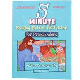 5 Minute Sunday School Activities for Preschoolers Jesus Shows Me, Reproducible, Ages 2-5