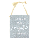 Mardel, Friends Are Angels Galvanized Metal Wall Decor, 6 x 7 x 0.18 Inches