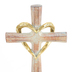 Dicksons, 50th Wedding Anniversary Tabletop Cross, MDF & Resin, Gold & Brown, 6 inches