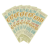 Salt & Light, Romans 8:28 Works For The Good Bookmarks, 2 x 6 inches, 25 Bookmarks