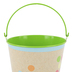 TooCute Collection, Metal Bucket, Small 4 x 4.50-inch, Kraft Paper with Colorful Polka Dots