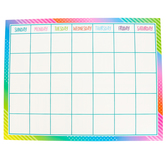 Teacher Created Resources, Colorful Vibes Customizable Calendar Chart, 22 x 17 Inches, 1 Each