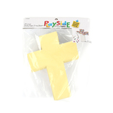 Playside Creations, Sticky Paper Cross, 5 x 7 Inches, White, 24 Count