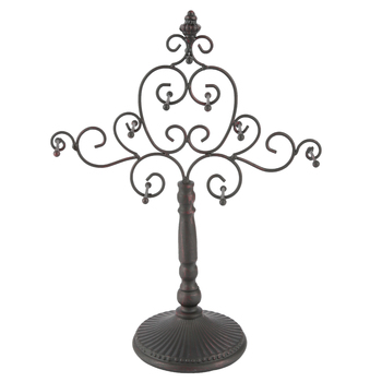 Scroll Metal Jewelry Stand, Metal, Antique Brown, 12 7/8 x 16 3/4 x 5 3/4 inches