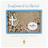 DaySpring, Confirmed In Christ Photo Frame, Ceramic, White, 8 x 8 Inches