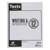 BJU Press, Writing and Grammar 12 Tests, 3rd Edition, Paperback, Grade 12