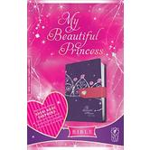 NLT My Beautiful Princess Bible Purple, Duo-Tone, Purple Crown with Pink