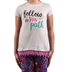 Southern Grace, Follow His Path, Kid's Short Sleeve T-shirt, Light Gray and Pink Lace Trim, Ages 2-3