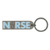 Dicksons, Nurse Prayer Key Ring, Metal, Pale Blue and Silver, 3.50 Inches