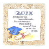 Product Concept Manufacturing, Graduado Spanish Tabletop Plaque, Natural Stone, 4 x 4 inches
