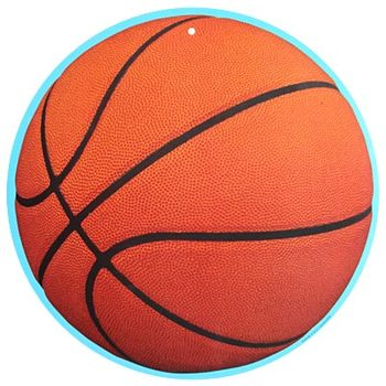 Renewing Minds, Basketball Two-Sided Hanging Decoration, 1 Piece