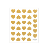 the Paper Studio, Glitter Heart Stickers, Gold, 60 pieces