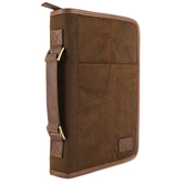 Zondervan, Aviator Suede Bible Cover, Brown, Multiple Sizes Available